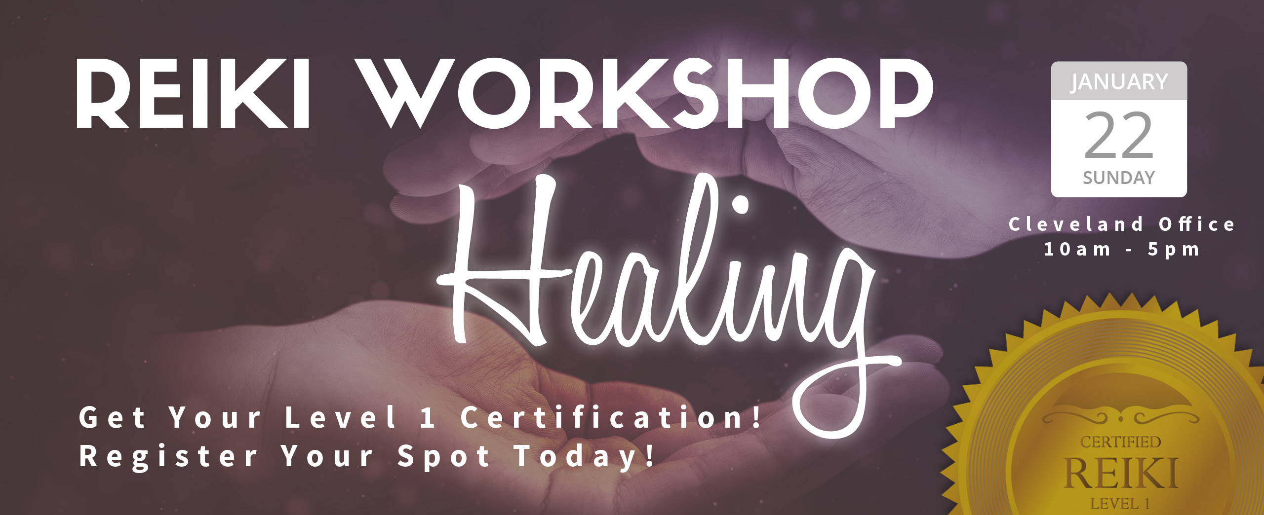 Reiki - Level 1 Certification - Homepage Slider - Salvatore DiLiello, N.D. Naturale Solutions, L.L.C